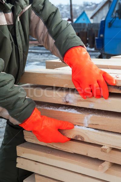 ács dolgozik fűrészmalom közelkép fotó kéz Stock fotó © olira