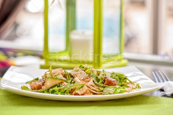Insalata affumicato anguilla cibo giapponese alimentare sfondo Foto d'archivio © olira