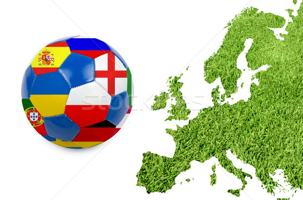 Euro 2012 Europe carte herbe verte texture herbe Photo stock © olira