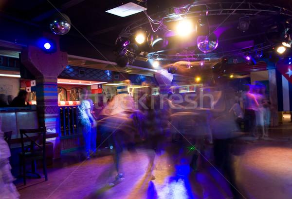 Club partij dansen mensen ondergrondse vrouwen Stockfoto © olira