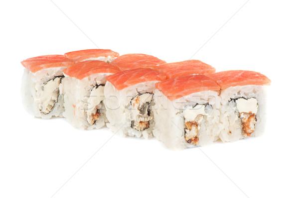 Rotolare crema formaggio affumicato anguilla salmone Foto d'archivio © olira