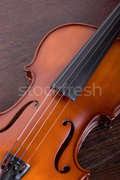 classic violin closeup Stock photo © olira