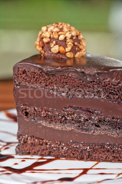 chocolate cake piece Stock photo © olira