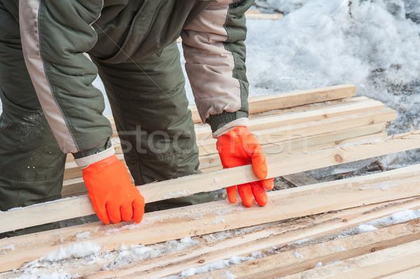 плотник рабочих лесопилка фото стороны Сток-фото © olira