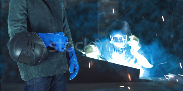 Welder in the factory Stock photo © olira