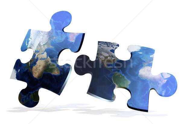 Globális térkép fény Föld kék utazás Stock fotó © olira