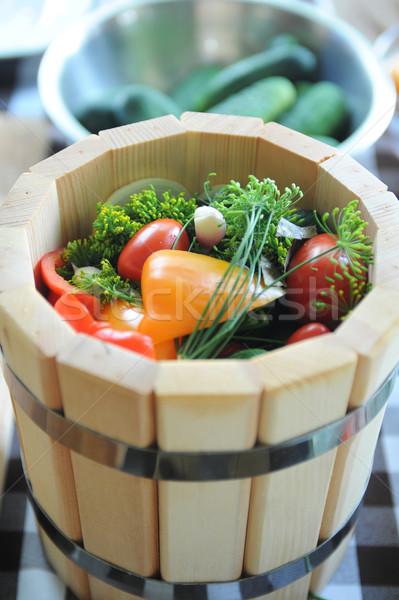 preserving tomatoes Stock photo © olira