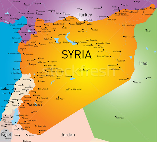 Syria map Stock photo © olira