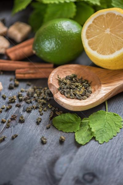 tea composition closeup Stock photo © olira