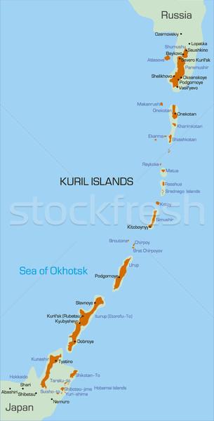 острове вектора цвета карта воды город Сток-фото © olira