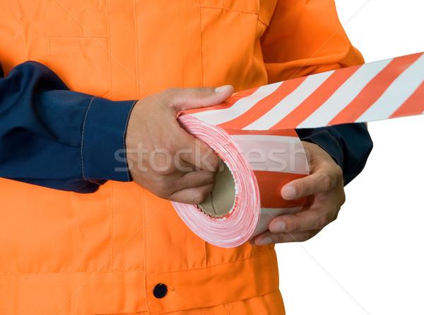warning tape Stock photo © olira