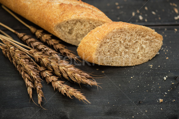 Bread composition with wheats Stock photo © olira