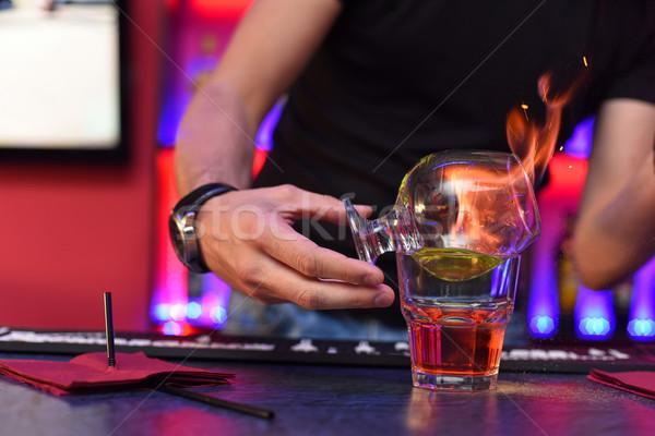 Making cocktail Stock photo © olira