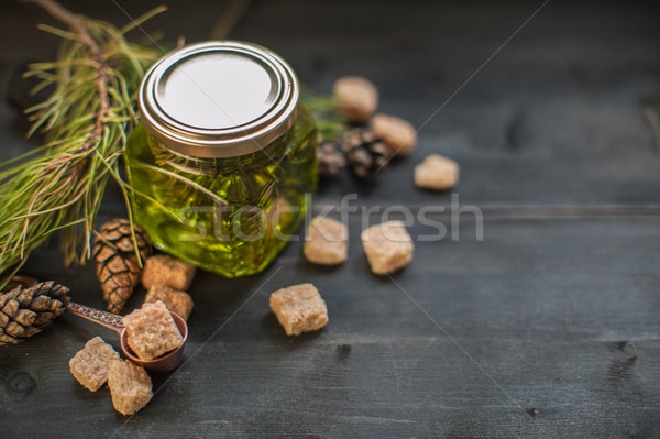 Buil jam houten bloem hout Stockfoto © olira