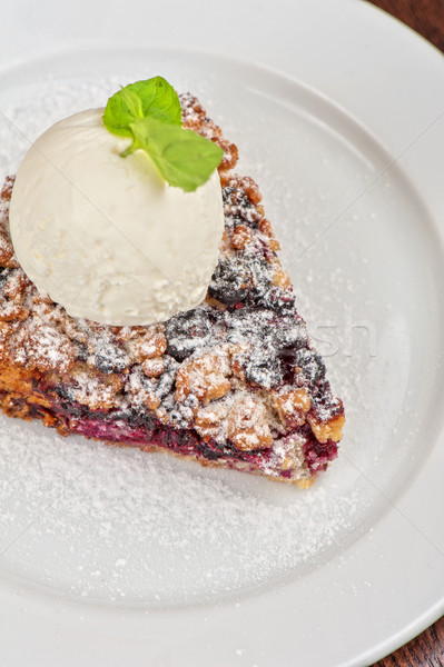 Crumble pie with black currants  Stock photo © olira