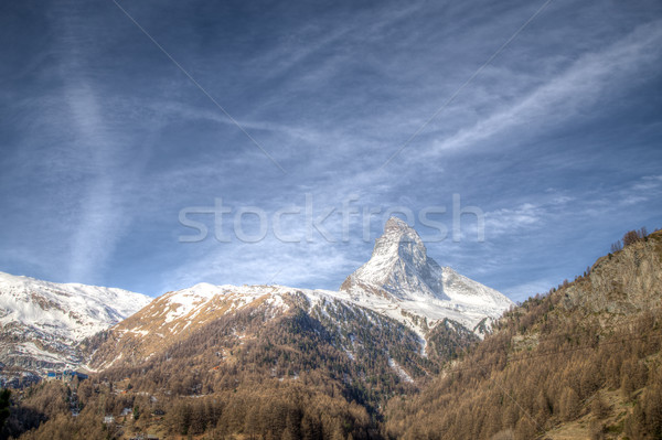 Famous Matterhorn in Switzerland Stock photo © oliverfoerstner