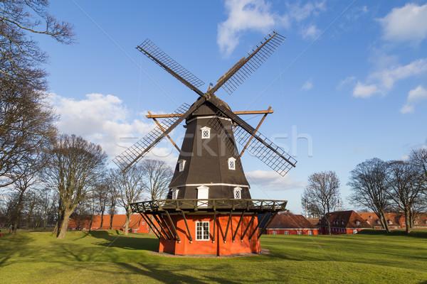 Windmill крепость фотография небе пейзаж путешествия Сток-фото © oliverfoerstner