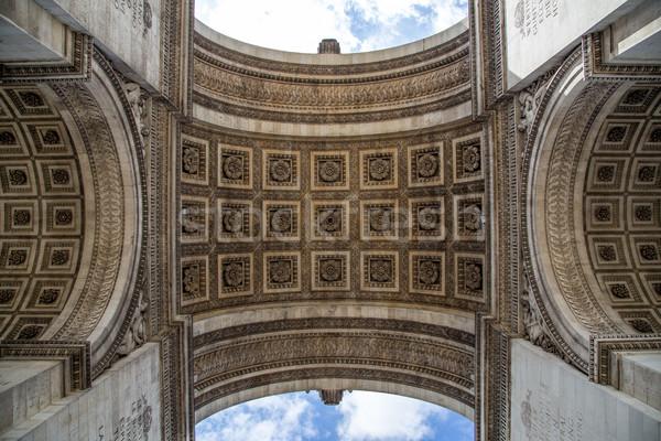 Arc de Triomphe in Paris Stock photo © oliverfoerstner