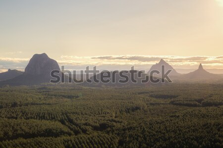 Glasshouse Mountains in Queensland, Australia Stock photo © oliverfoerstner