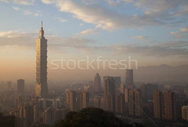 Taipei city skyline Stock photo © oliverfoerstner