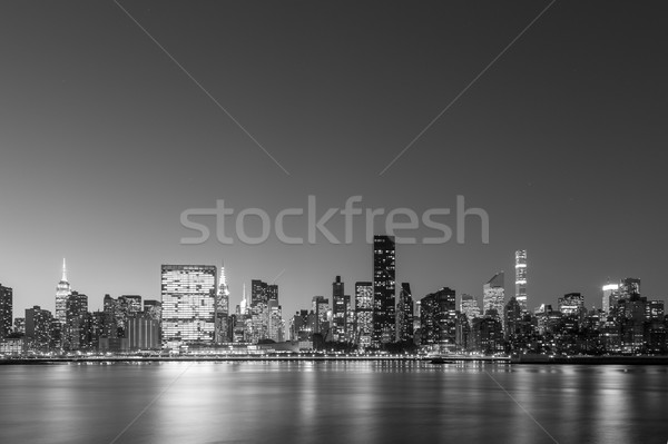 Midtown Manhattan skyline black and white Stock photo © oliverfoerstner