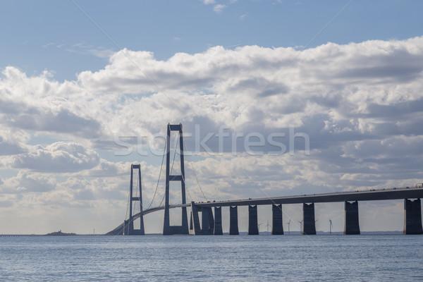 Great Belt Bridge in Denmark Stock photo © oliverfoerstner