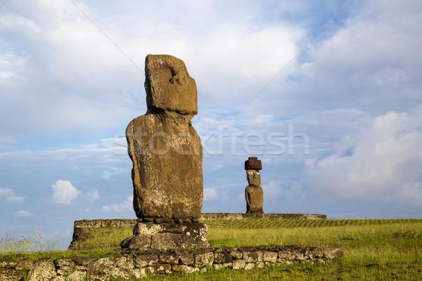 Ilha de Páscoa dois Chile céu natureza mundo Foto stock © oliverfoerstner