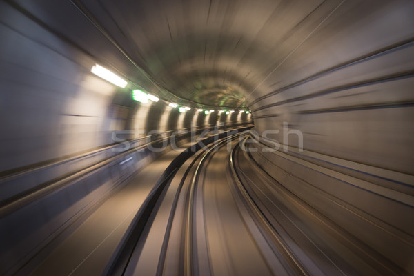 Kopenhaga miasta metra tunelu prędkości Zdjęcia stock © oliverfoerstner