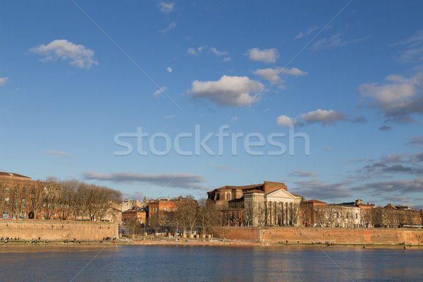 View over Garonne River in Toulouse Stock photo © oliverfoerstner