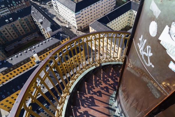 Spiral stairway of Vor Frelsers Kirke in Copenhagen, Denmark Stock photo © oliverfoerstner