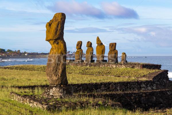 Ilha de Páscoa Chile natureza paisagem mundo arte Foto stock © oliverfoerstner