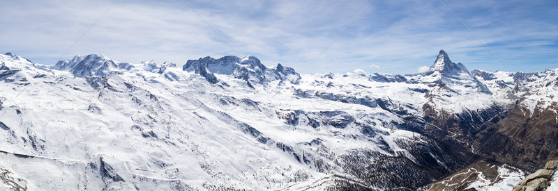 Panoramic view of Swiss Alps and Matterhorn Stock photo © oliverfoerstner