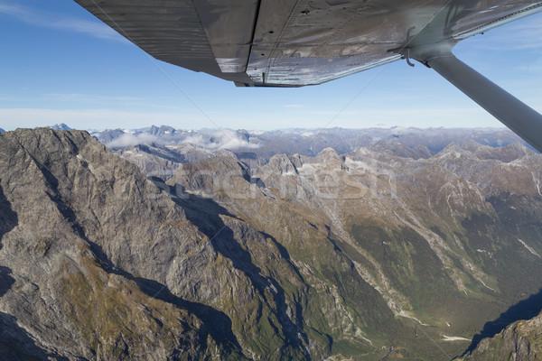 Légifelvétel feltörekvő park hegyek dél sziget Stock fotó © oliverfoerstner