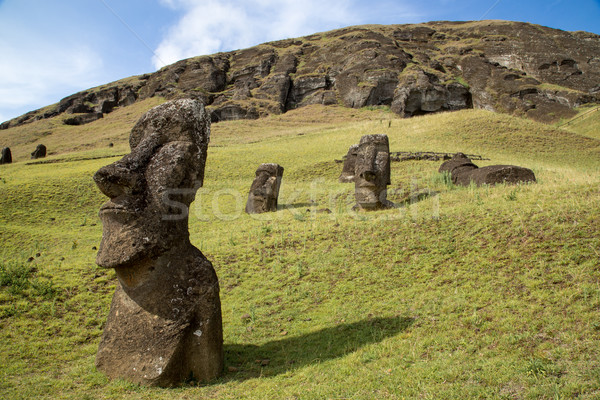 Pedra Ilha de Páscoa Chile páscoa cara natureza Foto stock © oliverfoerstner