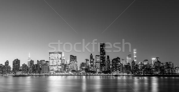 Midtown Manhattan skyline panoramic view Stock photo © oliverfoerstner