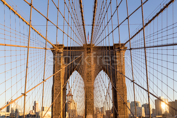 Brooklyn Bridge in New York City Stock photo © oliverfoerstner