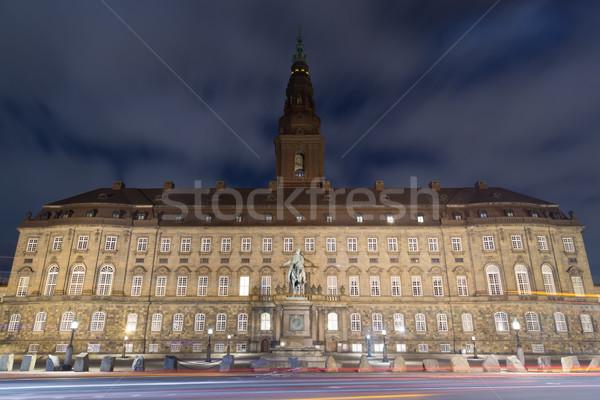 Christiansborg Palace in Copenhagen by night Stock photo © oliverfoerstner