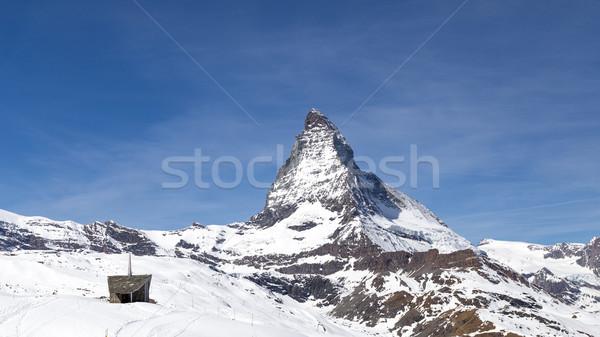 Noto montagna piccolo cappella vicino cielo Foto d'archivio © oliverfoerstner