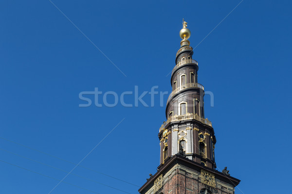 Vor Frelsers Kirke, Church of Our Saviour in Copenhagen, Denmark Stock photo © oliverfoerstner