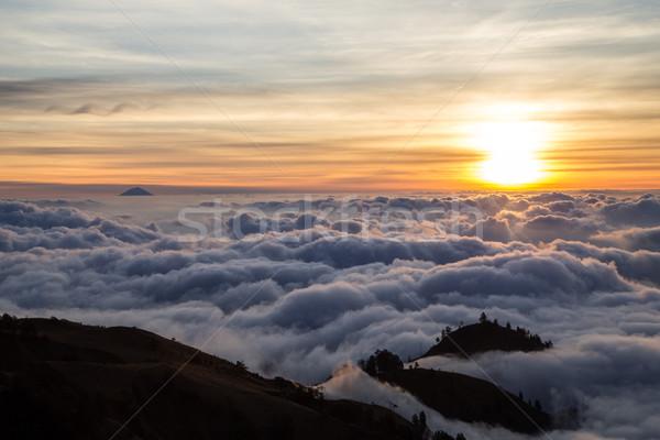 закат облака Индонезия небе пейзаж путешествия Сток-фото © oliverfoerstner