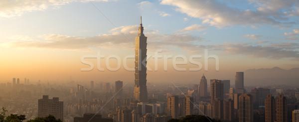 Taipei city skyline panoramic view Stock photo © oliverfoerstner