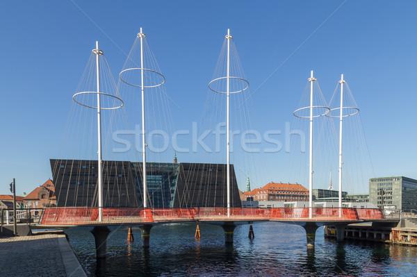 Kör híd fénykép modern építkezés absztrakt Stock fotó © oliverfoerstner