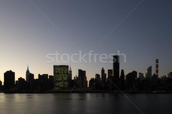 Midtown Manhattan skyline view Stock photo © oliverfoerstner