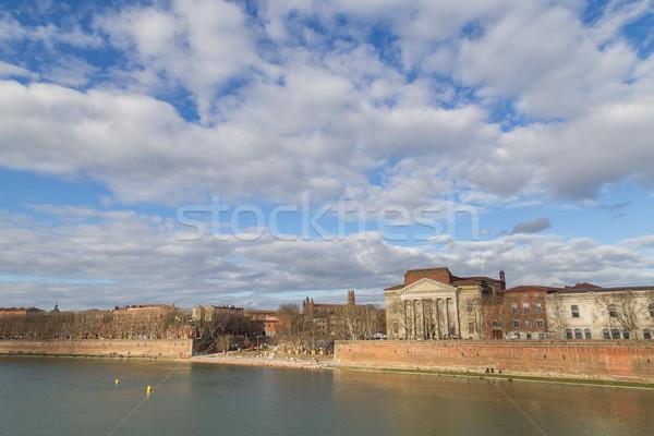 View fiume Francia città muro chiesa Foto d'archivio © oliverfoerstner