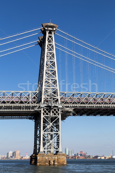 Pillar of Williamsburg Bridge in Manahattan, New York Stock photo © oliverfoerstner