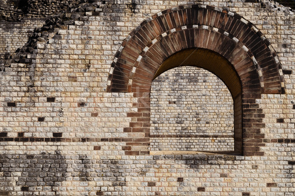 Window Detail of a Roman Theater Stock photo © oliverfoerstner