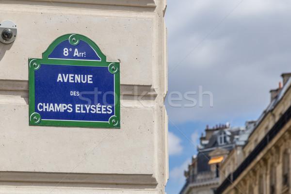 Avenue des Champs Elysees Stock photo © oliverfoerstner