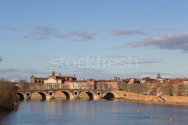 View over Garonne River towards Pont Neuf in Toulouse Stock photo © oliverfoerstner