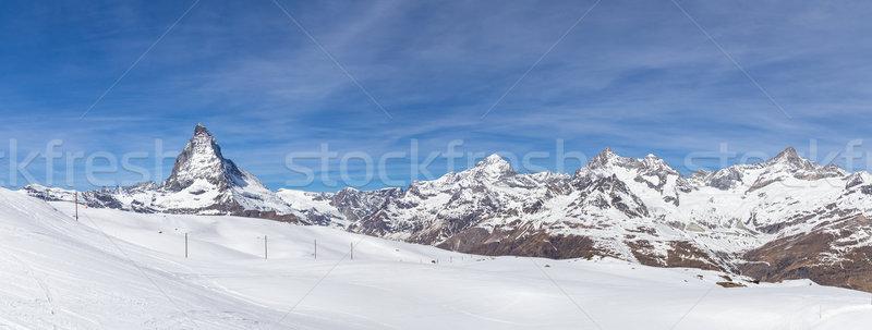 Panoramic view of Matterhorn Stock photo © oliverfoerstner