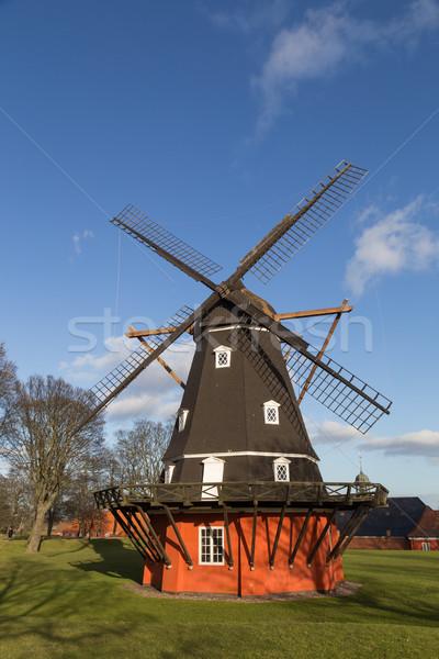 Windmill in Kastellet fortress, Copenhagen, Denmark Stock photo © oliverfoerstner
